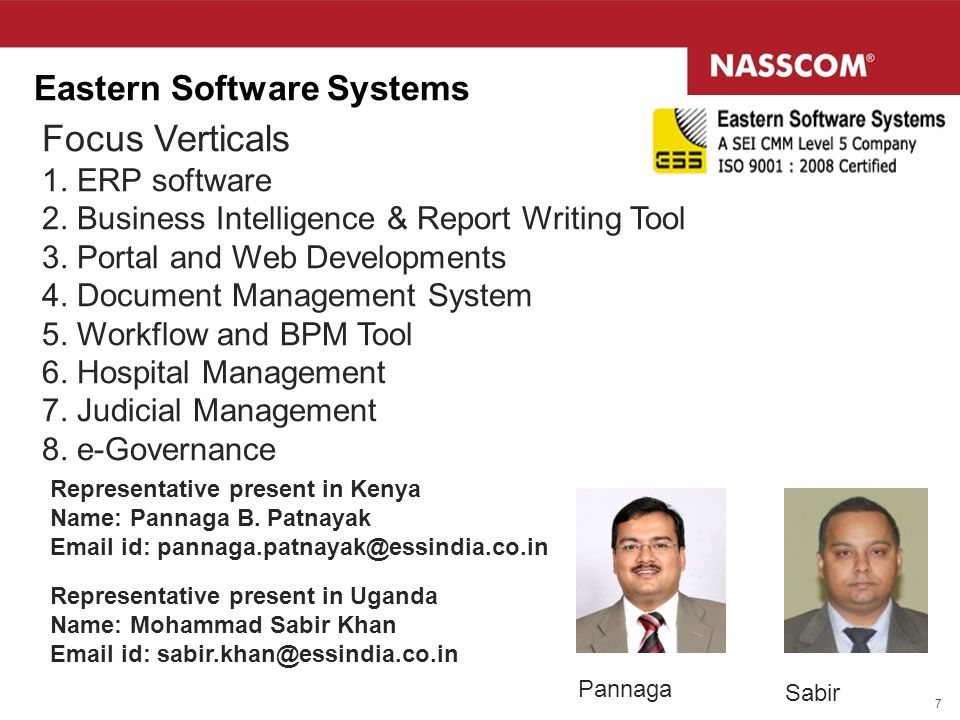 Focus Verticals Eastern Software Systems 1. ERP software