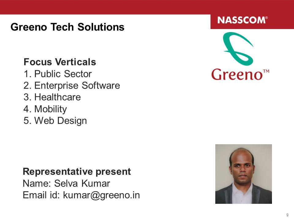 Greeno Tech Solutions Focus Verticals 1. Public Sector