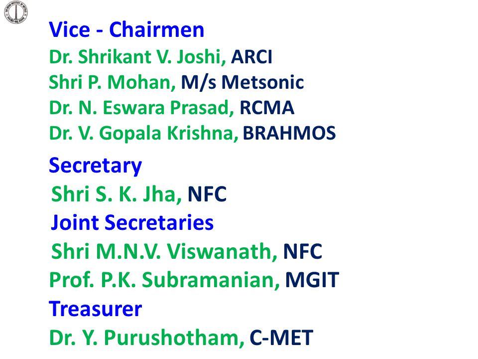 Prof. P.K. Subramanian, MGIT Treasurer Dr. Y. Purushotham, C-MET