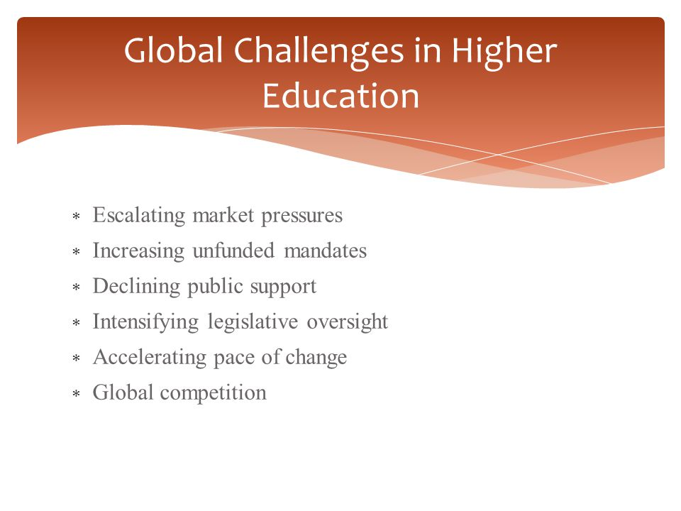 Global Challenges in Higher Education