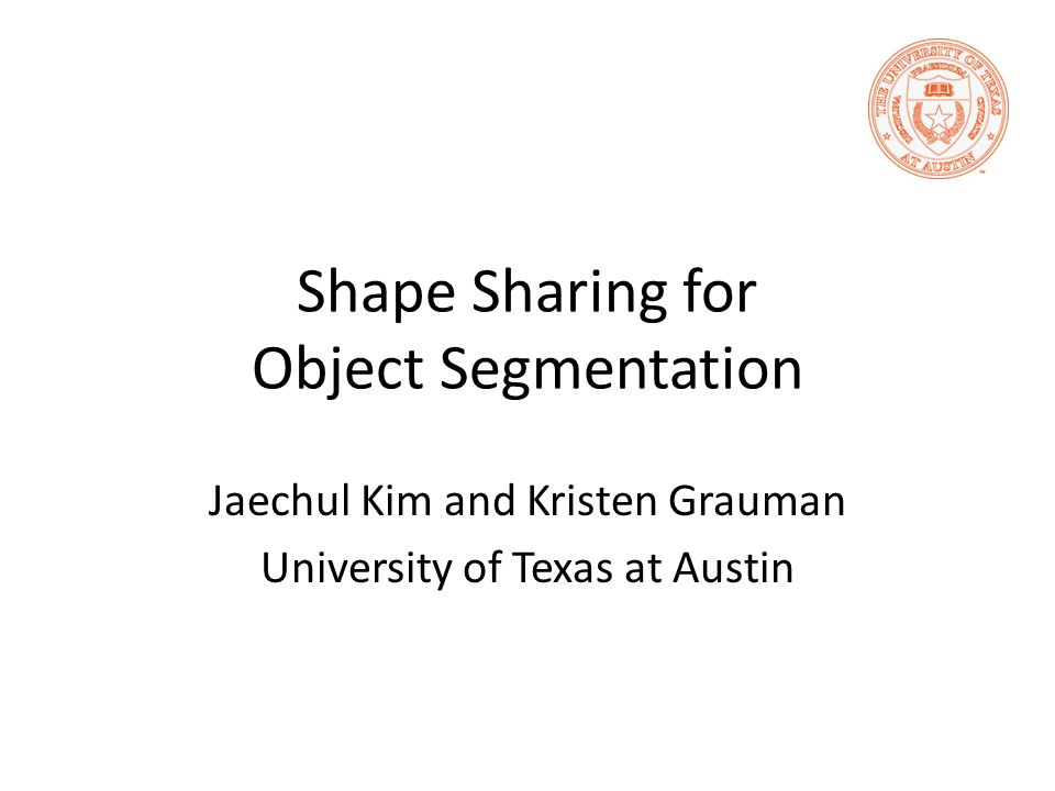 Shape Sharing for Object Segmentation