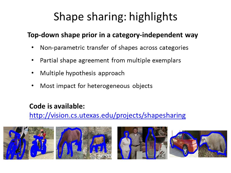 Shape sharing: highlights