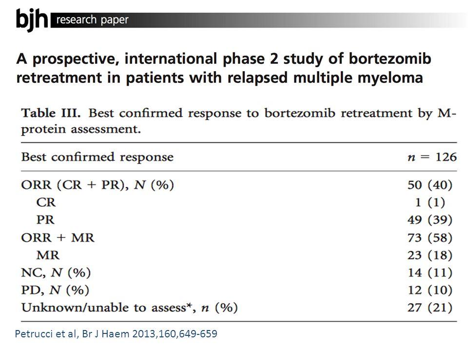 Petrucci et al, Br J Haem 2013,160,649-659