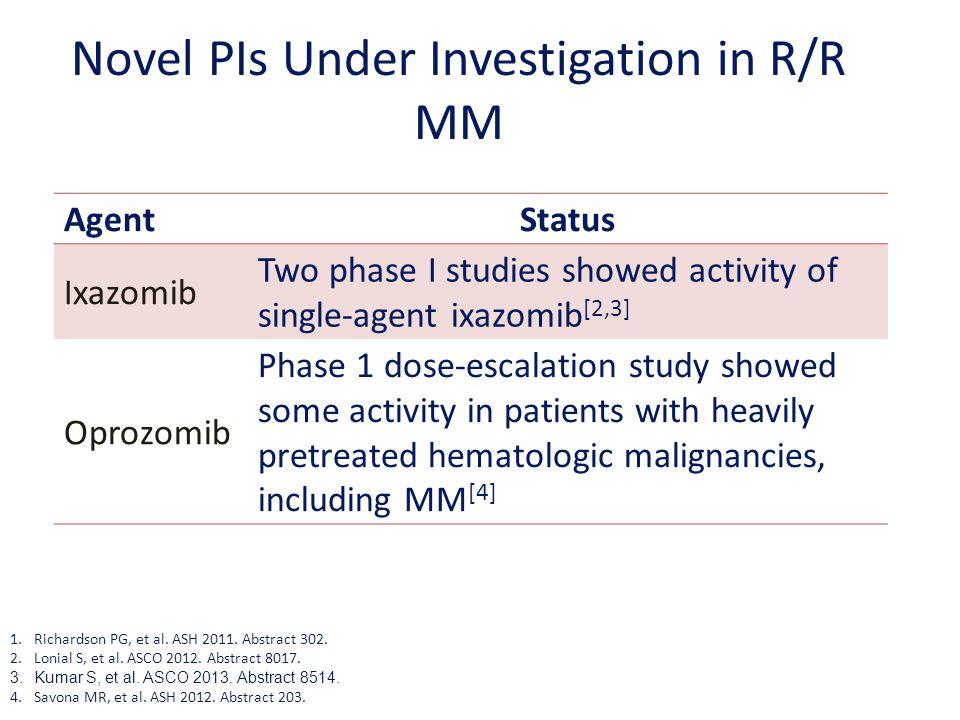 Novel PIs Under Investigation in R/R MM