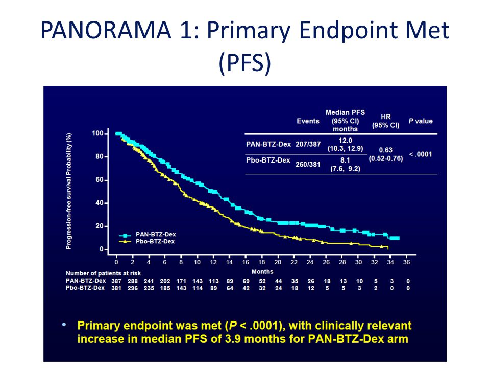 PANORAMA 1: Primary Endpoint Met (PFS)