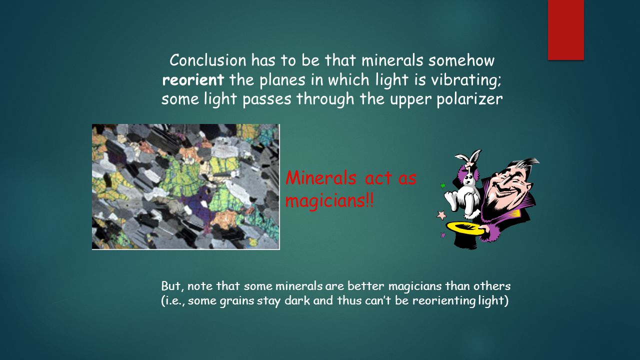 Minerals act as magicians!!