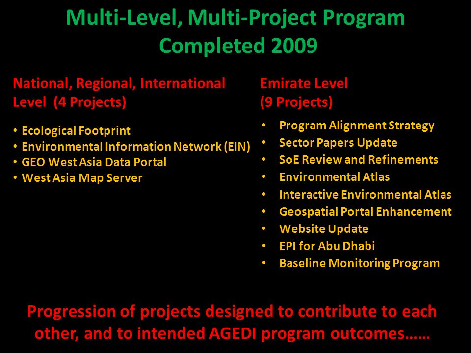 Multi-Level, Multi-Project Program