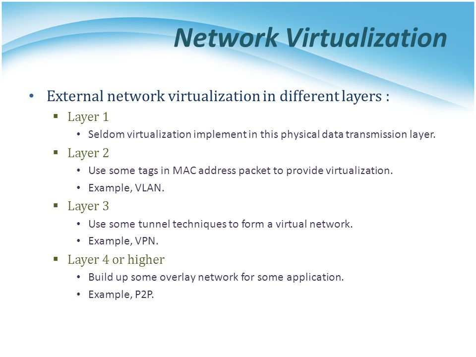 Network Virtualization