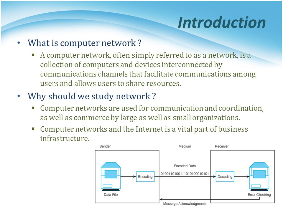 Introduction What is computer network Why should we study network