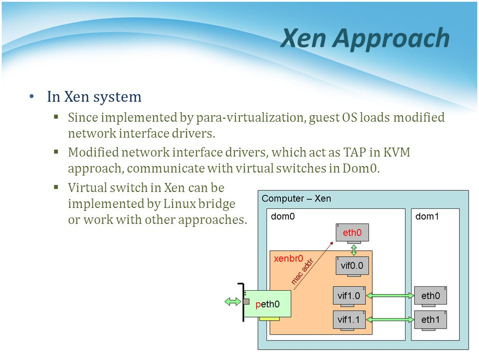 Xen Approach In Xen system