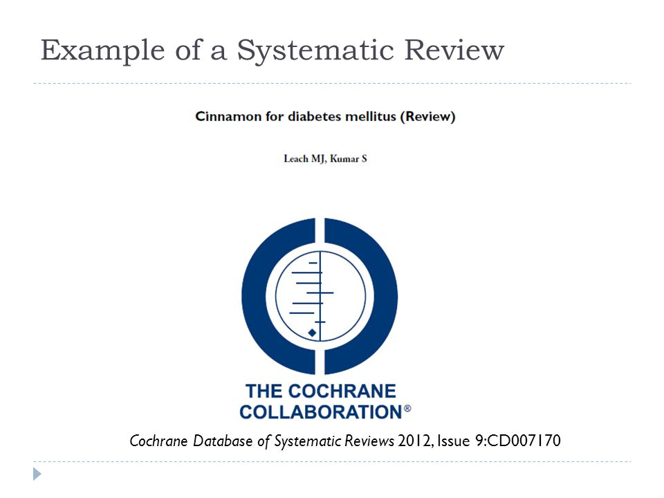 Example of a Systematic Review