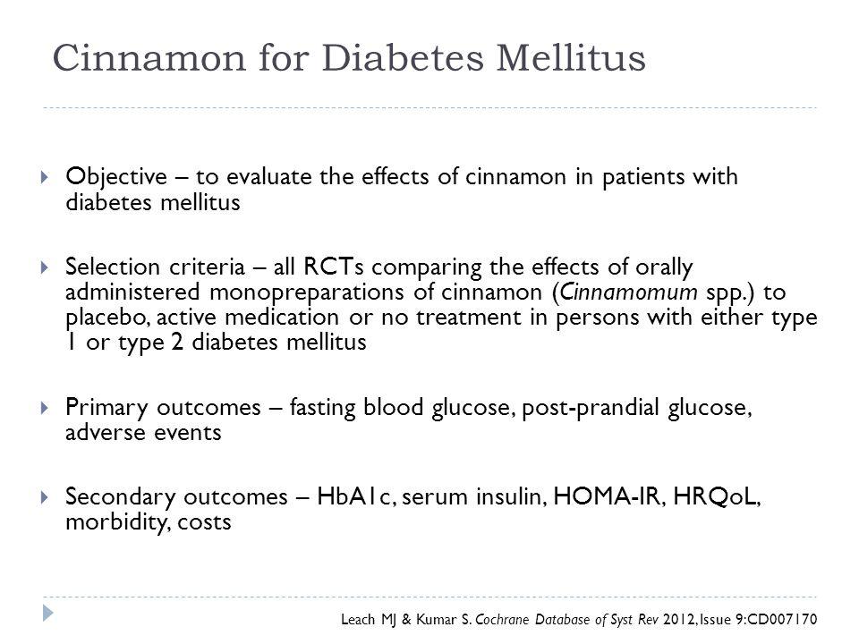 Cinnamon for Diabetes Mellitus