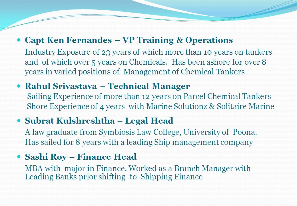 Capt Ken Fernandes – VP Training & Operations