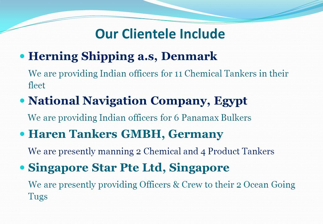 Our Clientele Include Herning Shipping a.s, Denmark