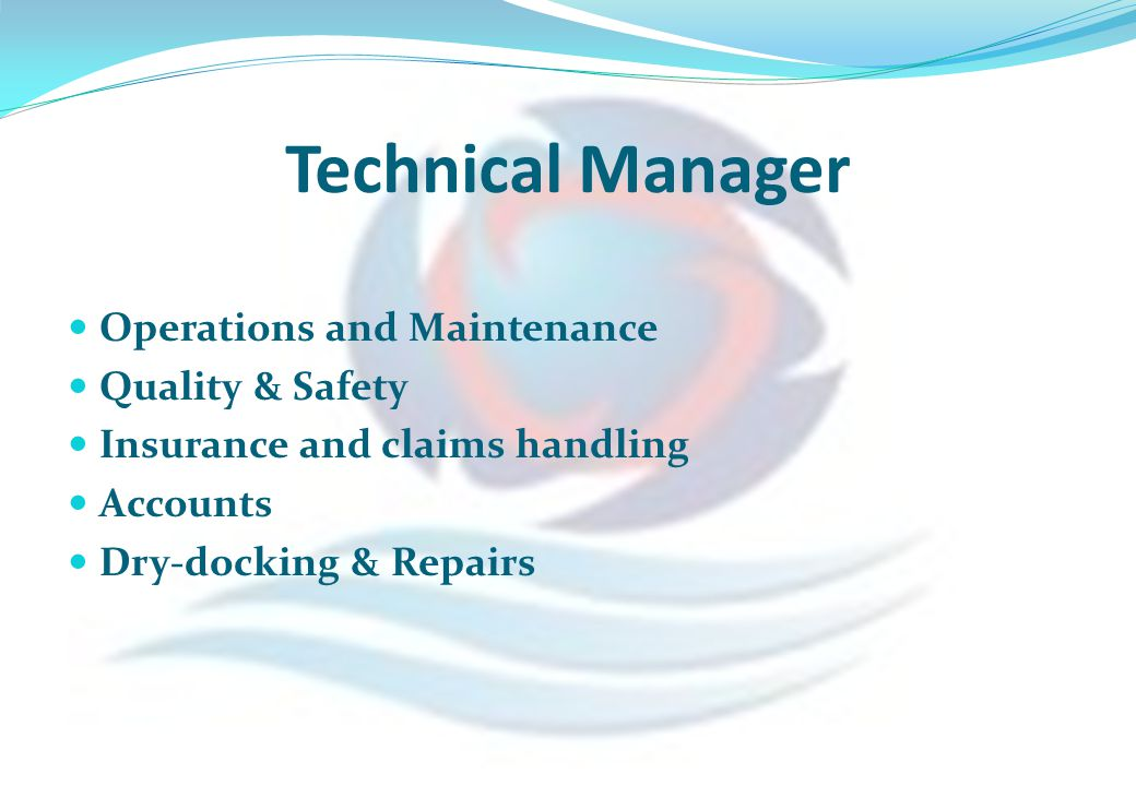 Technical Manager Operations and Maintenance Quality & Safety