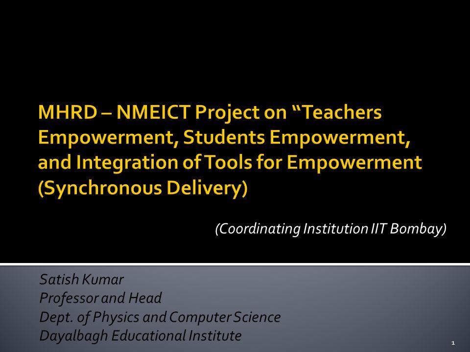 (Coordinating Institution IIT Bombay)