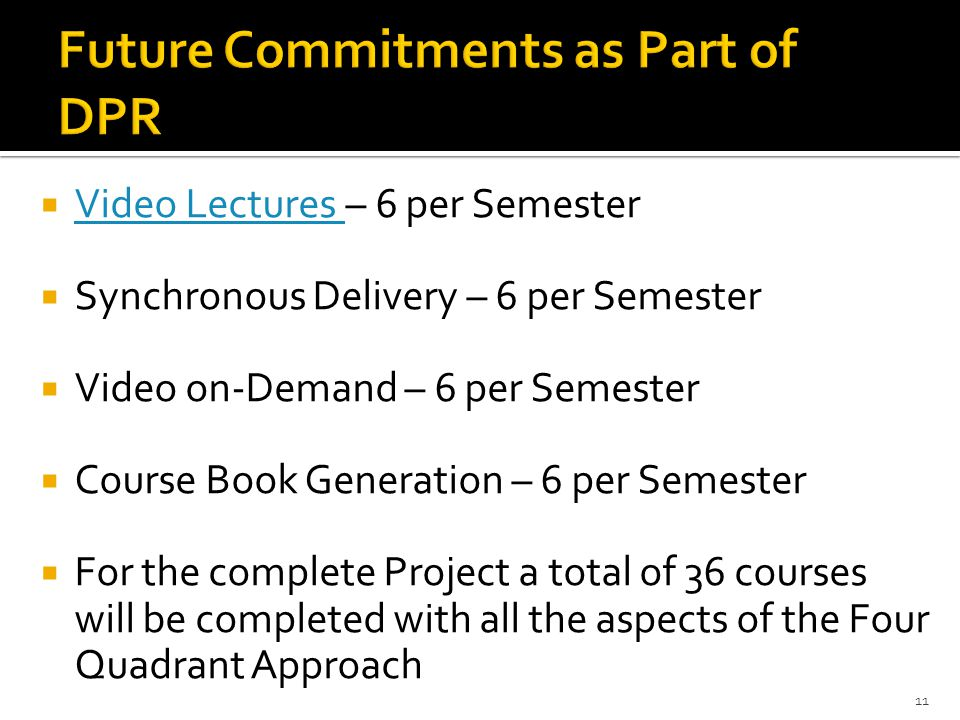 Future Commitments as Part of DPR