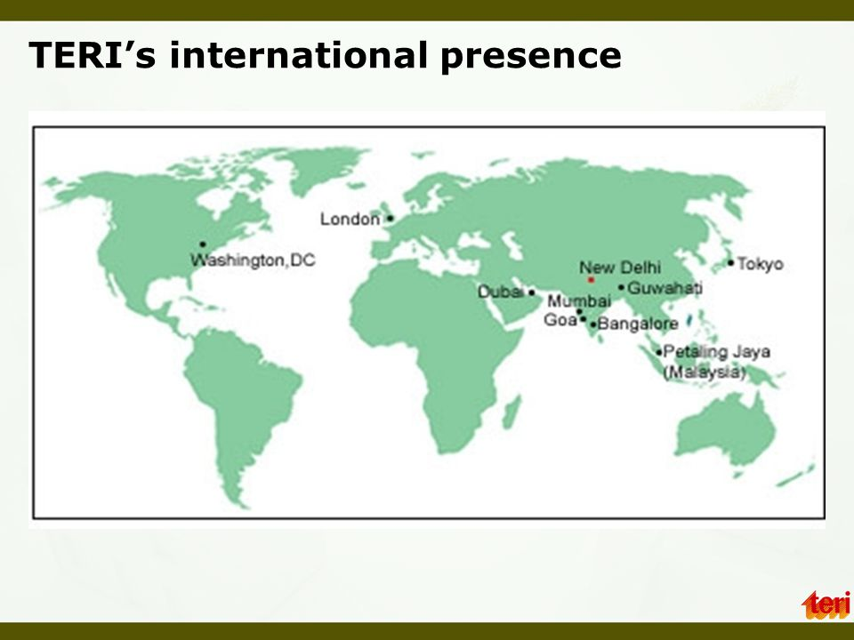 TERI's international presence