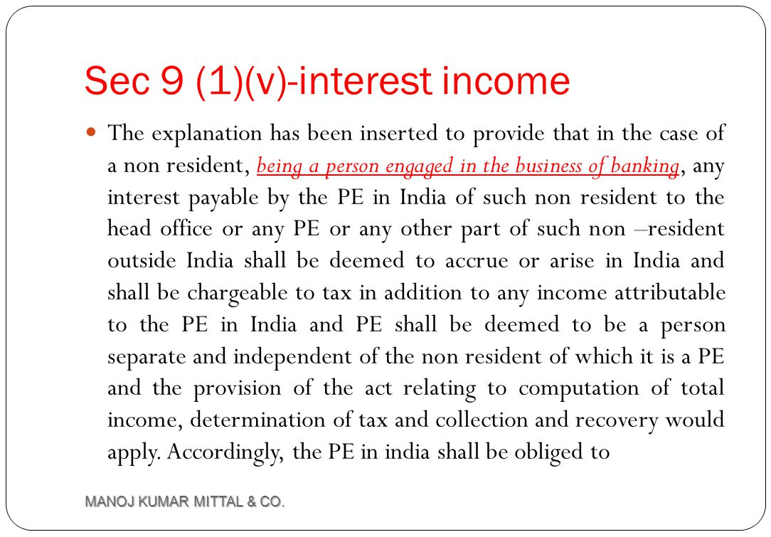 Sec 9 (1)(v)-interest income