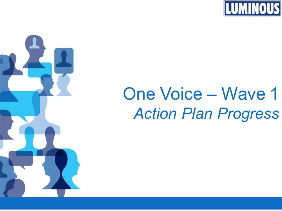 One Voice – Wave 1 Action Plan Progress