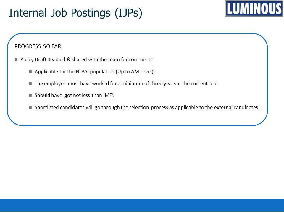 Internal Job Postings (IJPs)