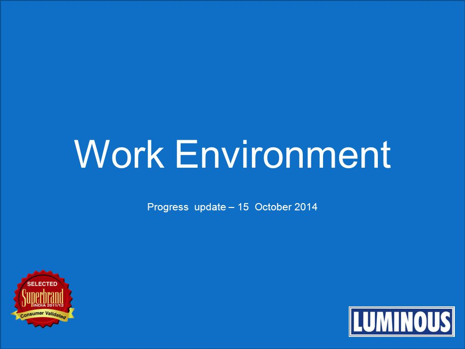 Progress update – 15 October 2014