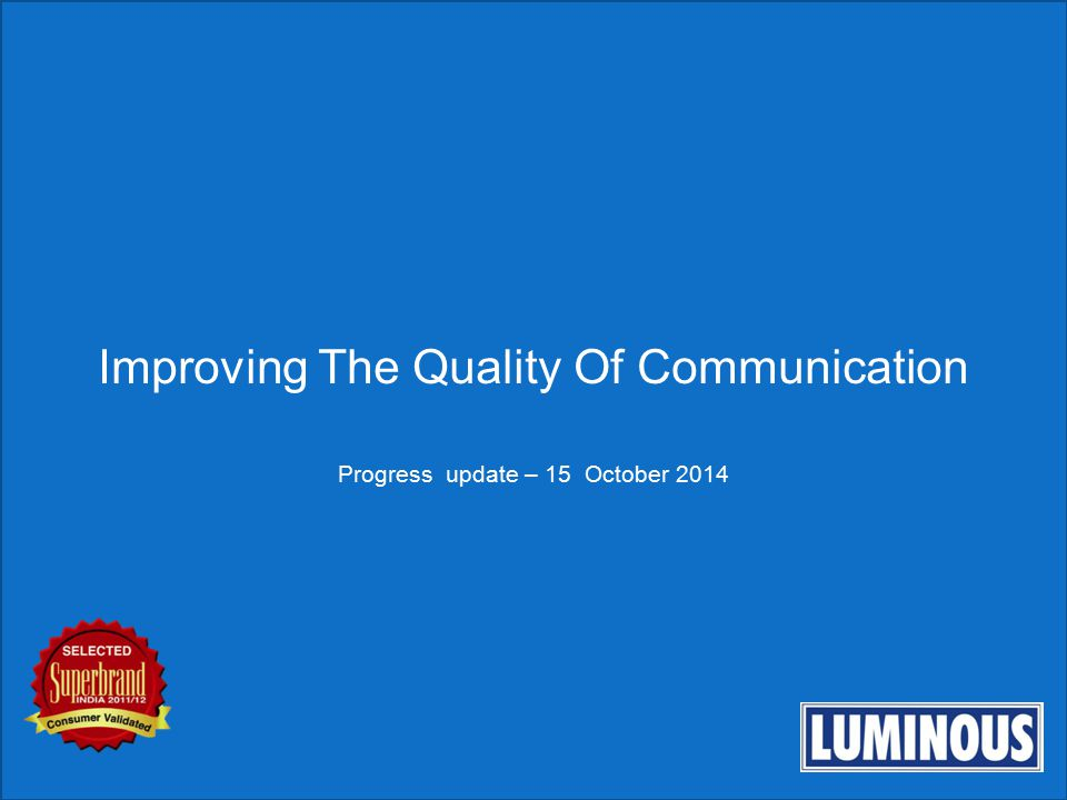 Improving The Quality Of Communication