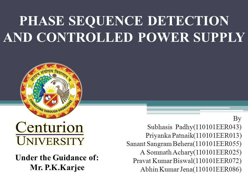PHASE SEQUENCE DETECTION AND CONTROLLED POWER SUPPLY
