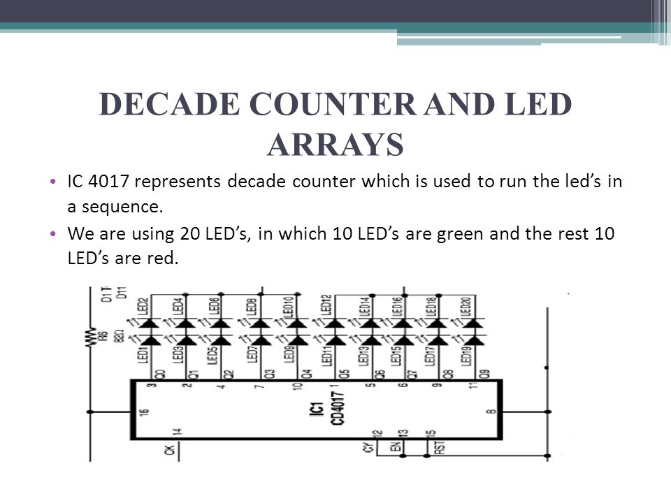 DECADE COUNTER AND LED ARRAYS