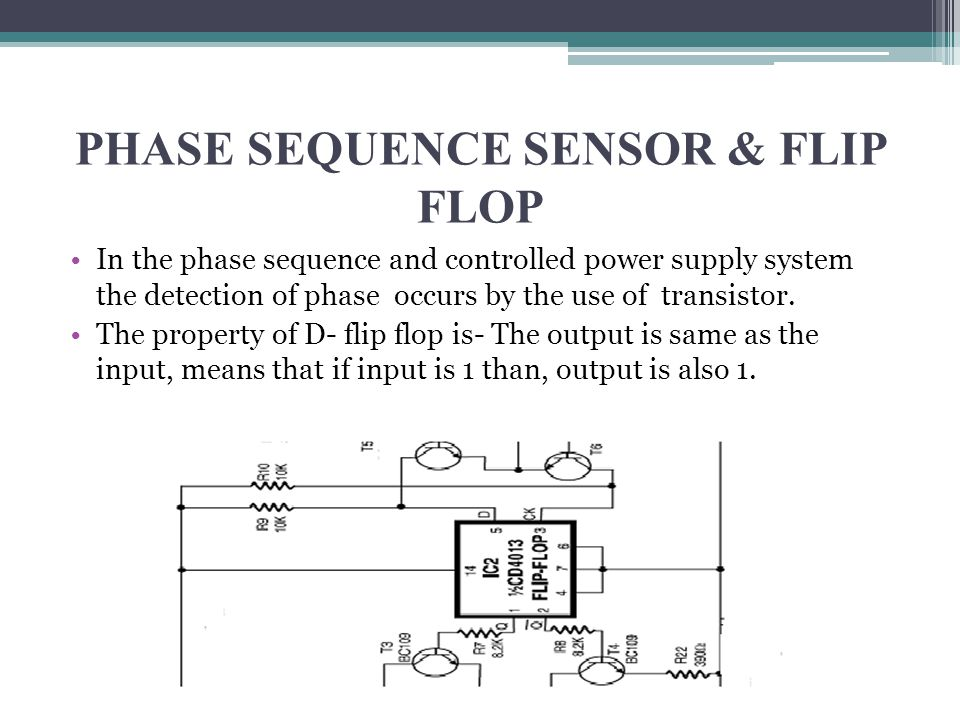 PHASE SEQUENCE SENSOR & FLIP FLOP