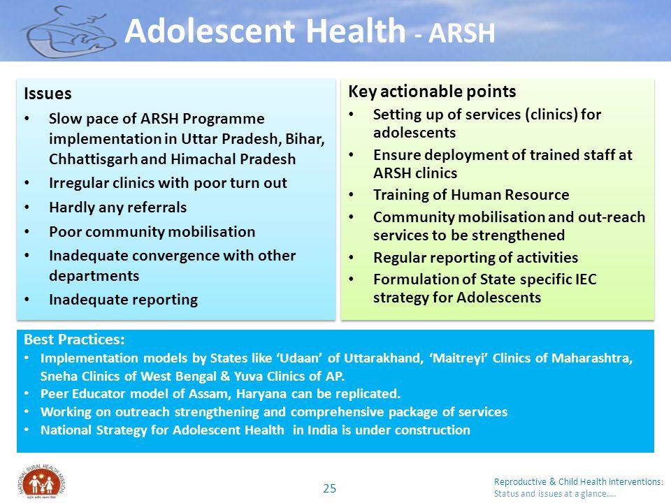 Adolescent Health - ARSH
