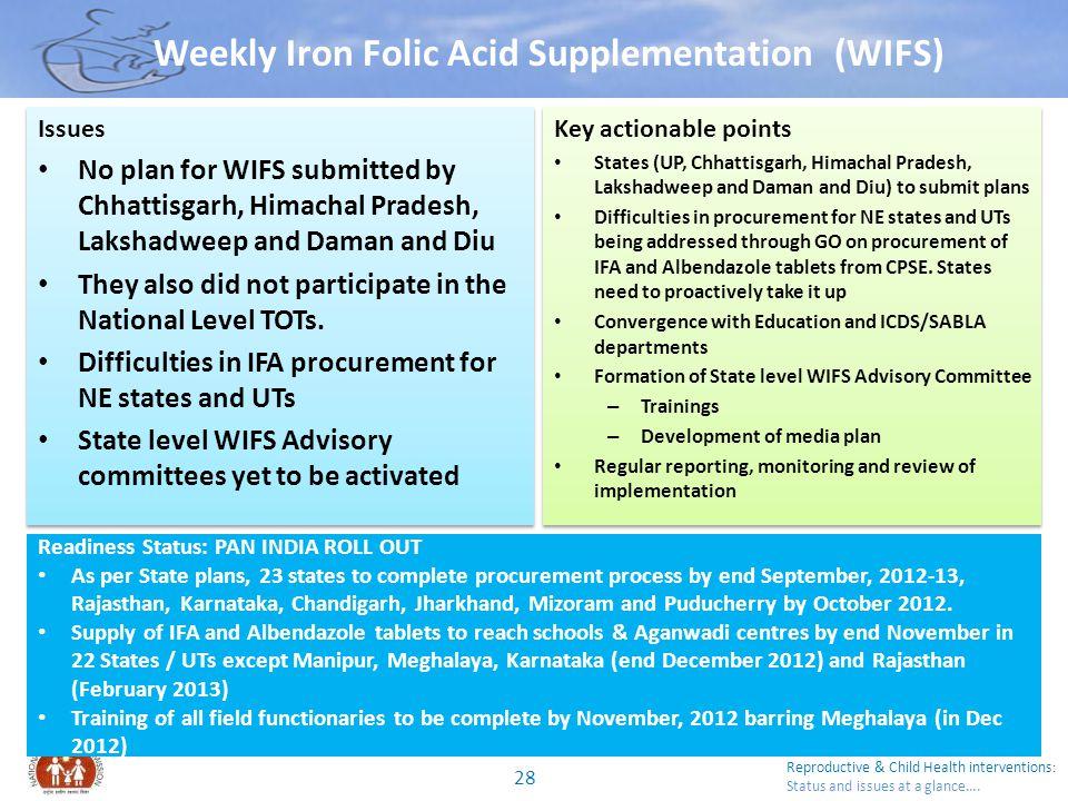 Weekly Iron Folic Acid Supplementation (WIFS)