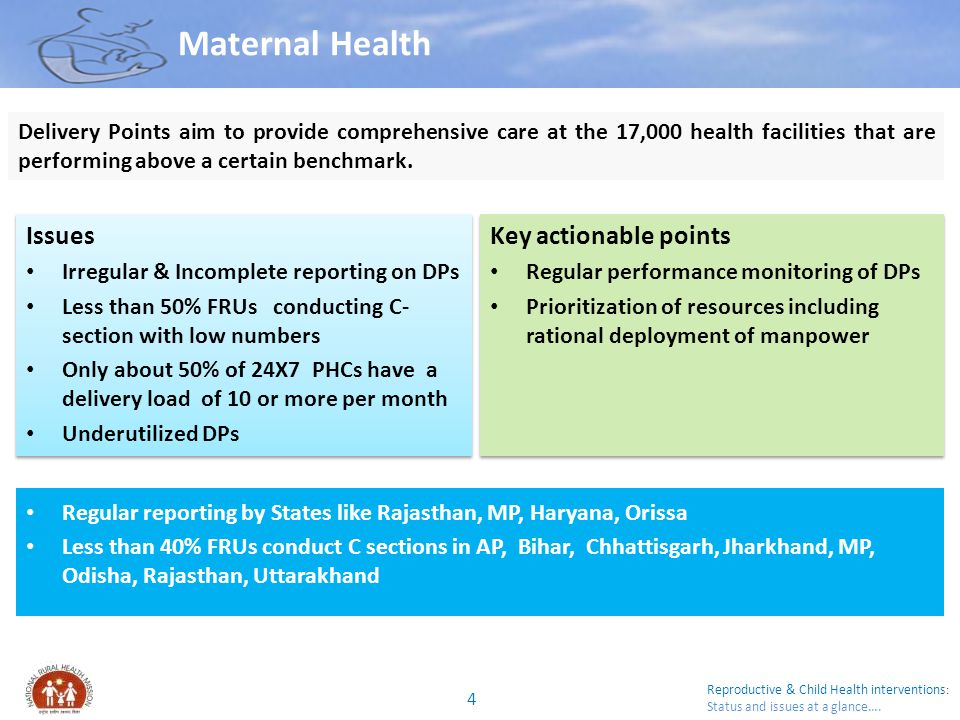 Maternal Health Issues Key actionable points