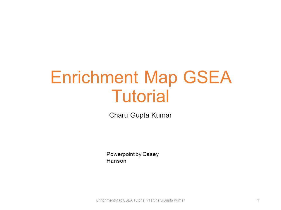 Enrichment Map GSEA Tutorial