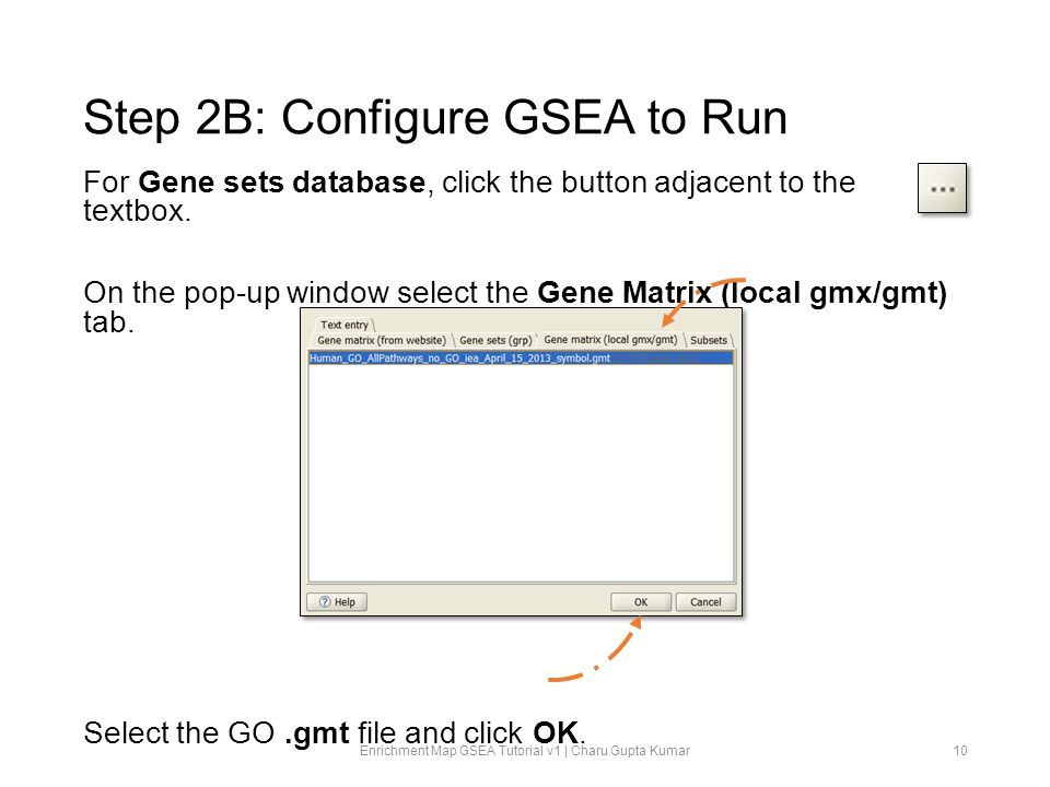 Step 2B: Configure GSEA to Run