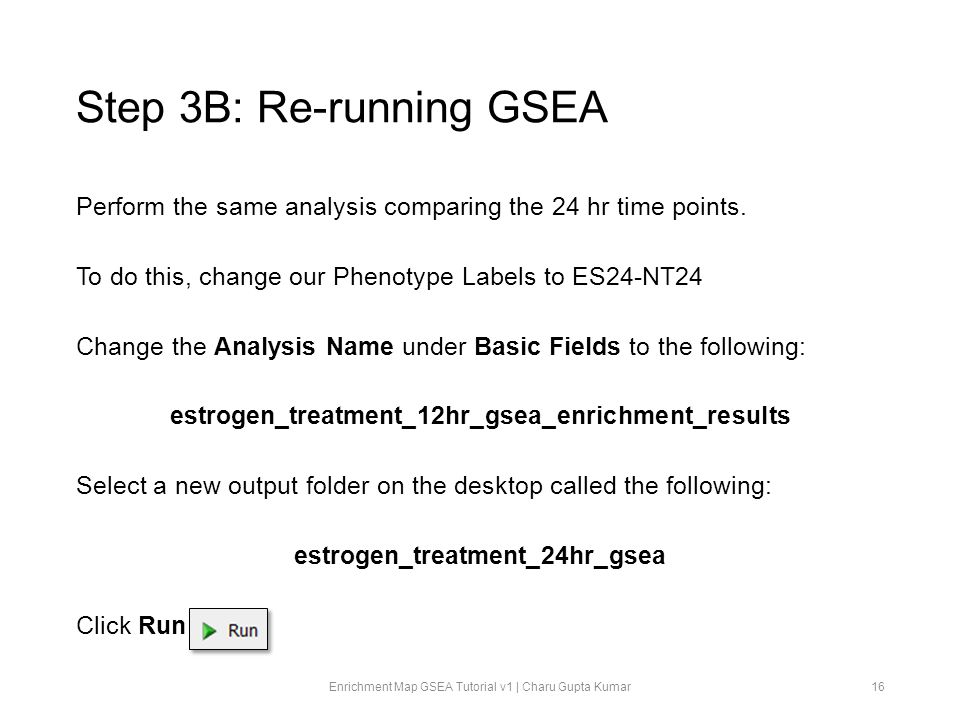 Step 3B: Re-running GSEA