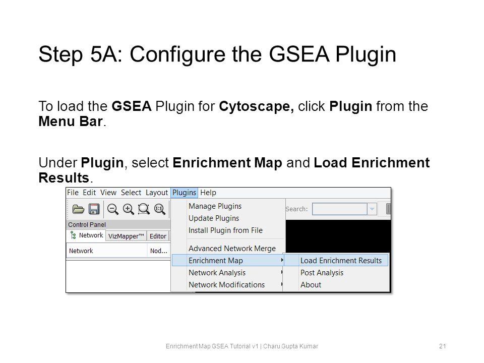 Step 5A: Configure the GSEA Plugin