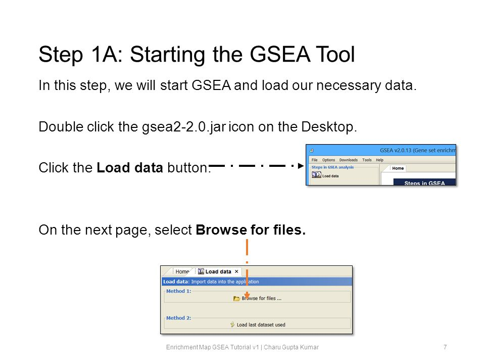 Step 1A: Starting the GSEA Tool