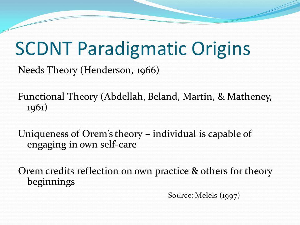 SCDNT Paradigmatic Origins