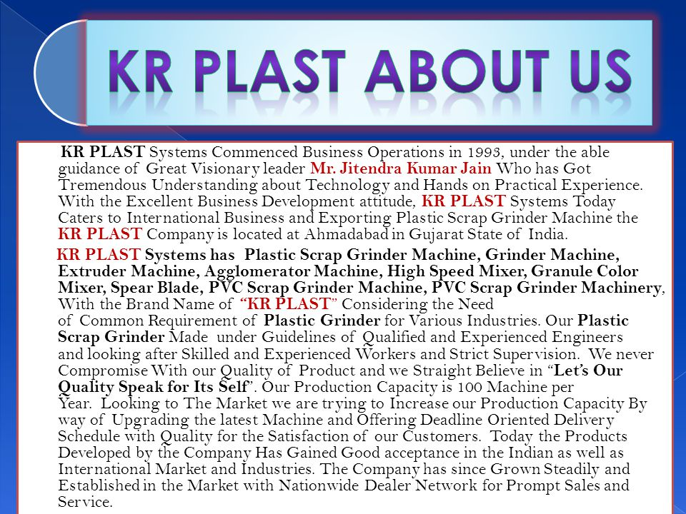 Thanks! Jitendra Kumar Jain Proprietor