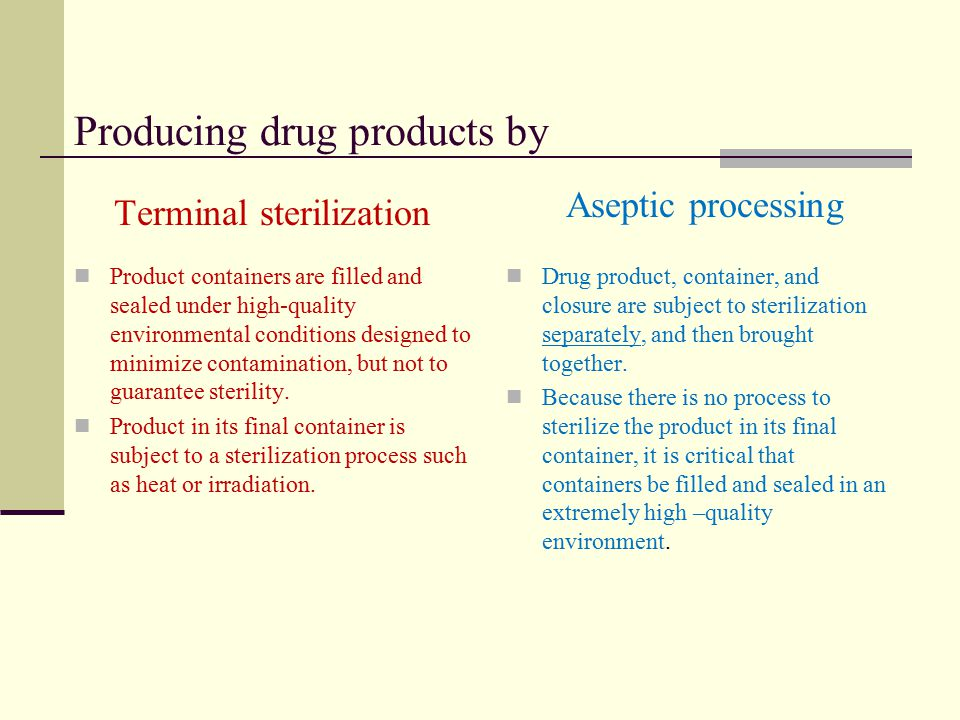 Producing drug products by