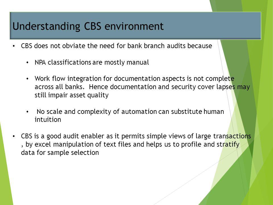 Understanding CBS environment