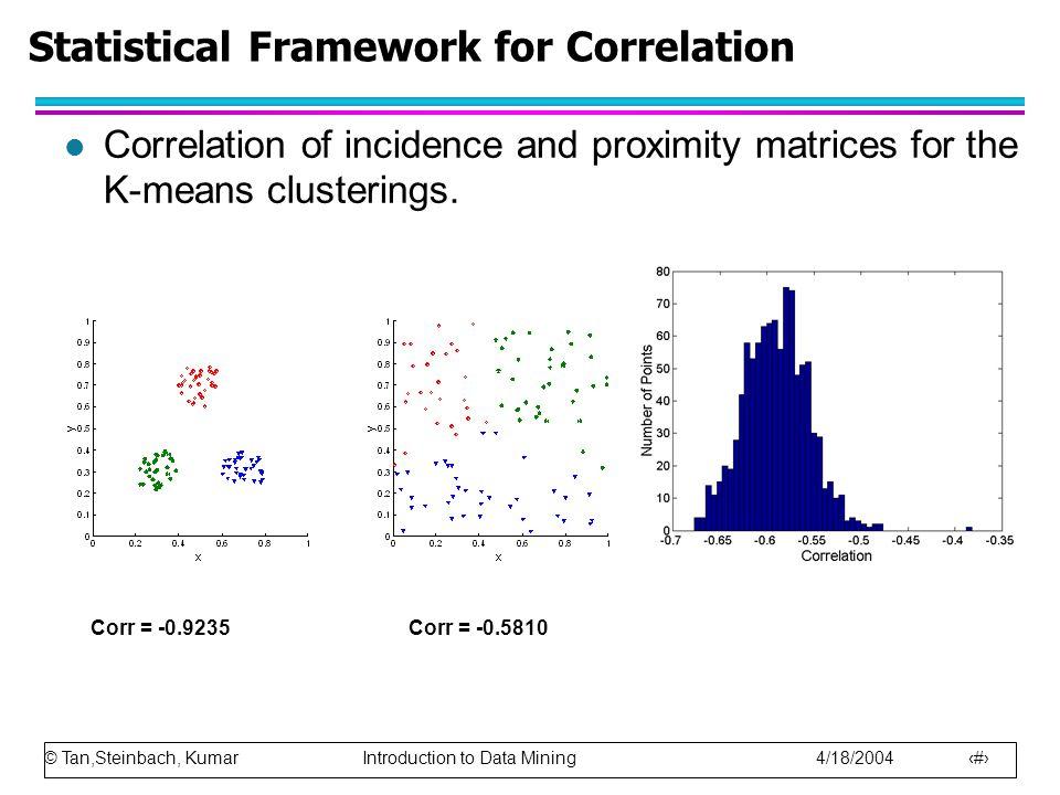Statistical Framework for Correlation