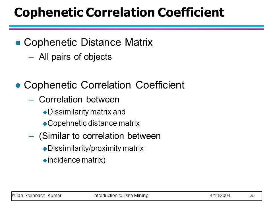 Cophenetic Correlation Coefficient