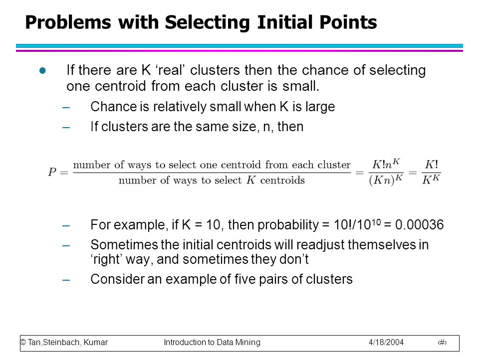 Problems with Selecting Initial Points