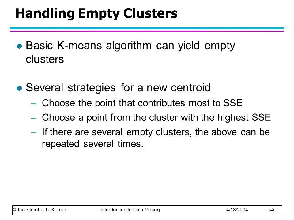 Handling Empty Clusters