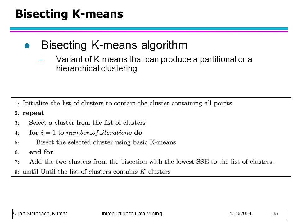 Bisecting K-means algorithm