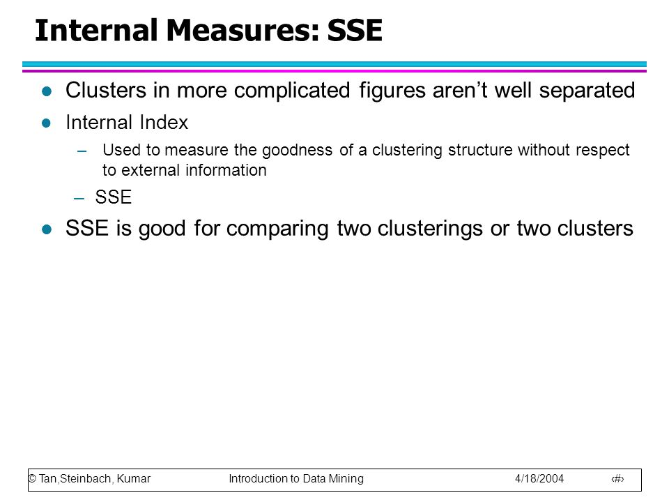 Internal Measures: SSE