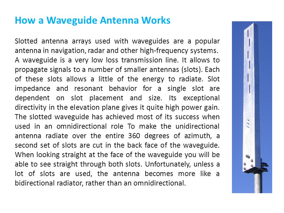 How a Waveguide Antenna Works