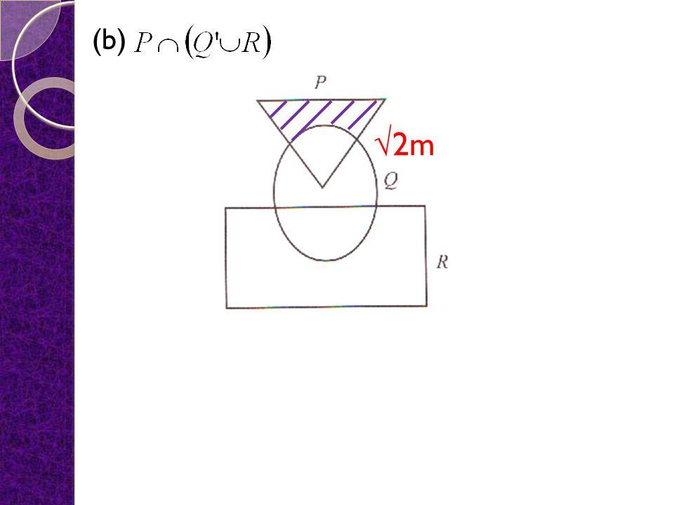 (b) √2m